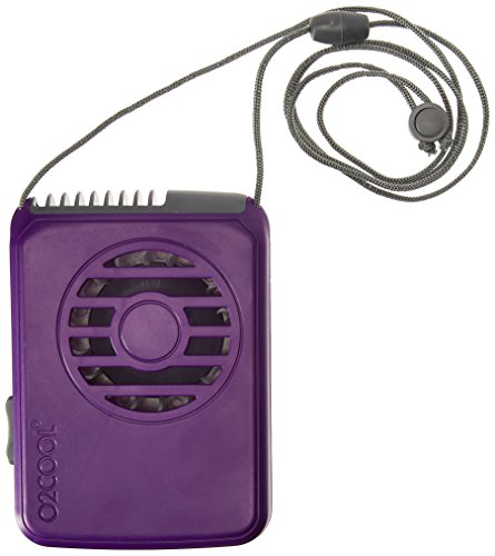 Price comparison product image O2COOL FN02001 Deluxe Necklace Fan,  Purple