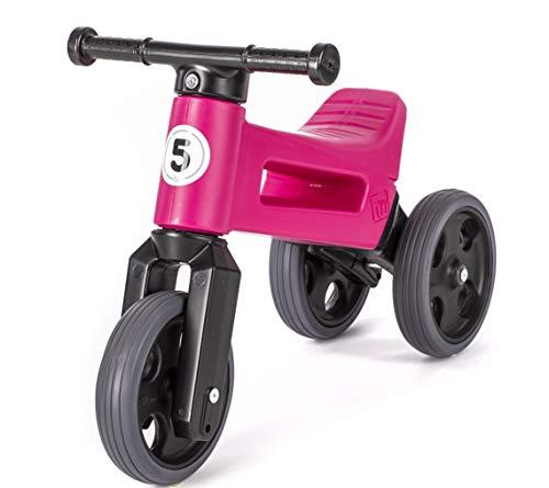 FREE WHEELIN RIDER Push Bike – Children's Balance Bike, Indoor Outdoor Toddler First Bicycle, Kids Push No Pedal Bike…