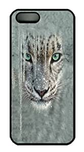 Children's Icicle Snow Leopard Polycarbonate Hard Case Cover for iPhone 5/5S Black