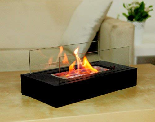 Fire Desire s Cubic Fireplace – Best Seller, Perfect for Table Top, Tempered Glass, Both Indoor and Outdoor Use, Great for Decoration, Cozy Atmosphere, German Design, Can Put Anywhere, Table Top, Easy to Assemble, Portable, Reusable Fireplace