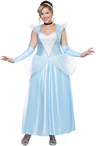 California Costumes Women's Plus-Size Classic Cinderella Fairytale Princess