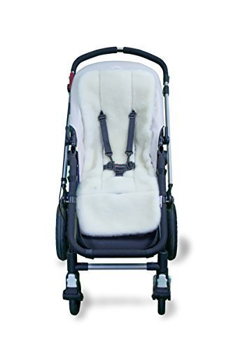Outlook Universal Wool Stroller Liner Seat Cushion Pad (White) by Outlook 2010
