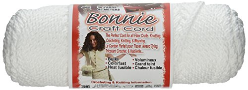 Pepperell 4mm Bonnie Macramé Craft Cord, 50-Yard, White (Macrame White)