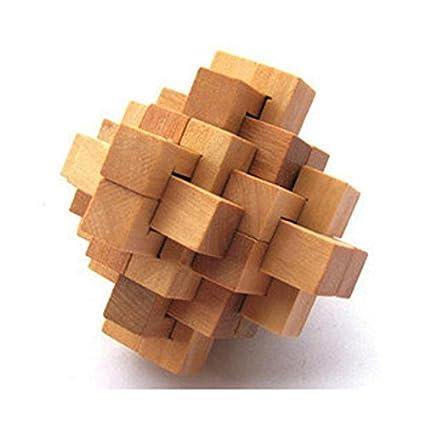 Zhuotop fai da te in legno legno intelligence Education puzzle Lock ...