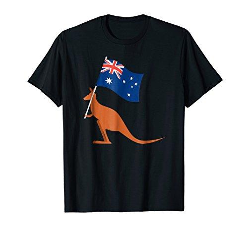 Australia Kangaroo Souvenir T-shirt Vintage Wild Print