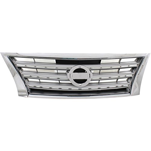 y NI1200252 For Nissan Sentra CHROME Shell with SILVER Insert ()