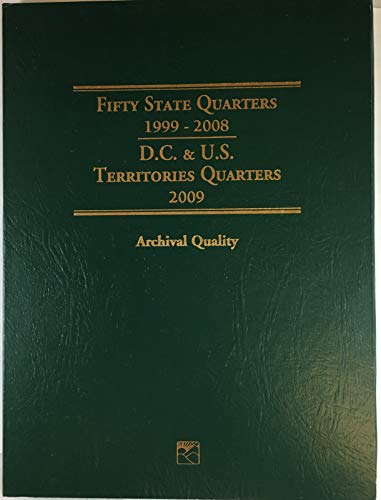 - 2009 Hard Cover 1999-2008 Fifty State Quarters Collector's Coin Album Empty # LCF3T by Littleton Custom Coin Folder