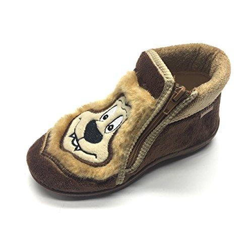 Gezer Boys' Slippers Brown