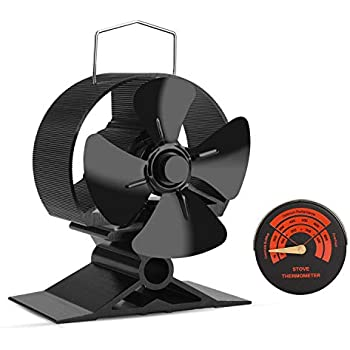 mini size 4 blade stove fan silent heat. Black Bedroom Furniture Sets. Home Design Ideas