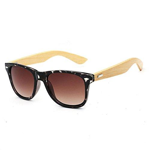 de al Ultravioletas para Gafas de Resina Sol o Libre Gafas de J YANKAN la Mujeres Bambú Aire Hombres Lentes Anti para Marco y Conducción tvxR8Z8wq