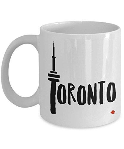 Maple Mug Leafs Toronto Travel (Toronto CN Tower Mug Toronto Souvenir Mug Maple Leaf Canada CN Tower Toronto Coffee Cup Canadian Cute Mug Toronto White Mug Coffee Mug 11 oz)