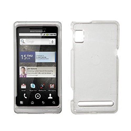 A955 Snap (EMPIRE Transparent Clear Hard Cover Crystal Case for Motorola Droid 2 A955)