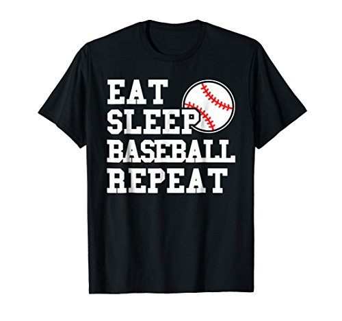 Eat Sleep Baseball Repeat Funny Baseball Player T Shirt