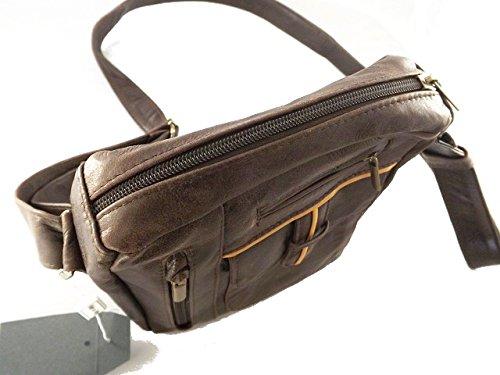 Borsello messenger in pelle -Vero Artigianato italiano -L19XH22XP5 cm MOD : Dia mini brown