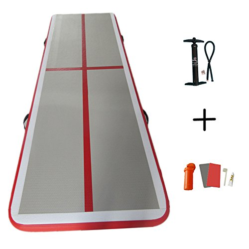 ARCADIAW Gymnastics Tumbling Mat Air Track for Home Use, Beach, Park and Water with Free Pump 10ft x3.3ft x4inch by ARCADIAW