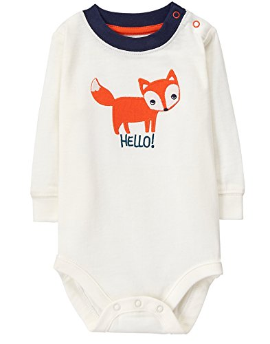 Gymboree Baby Boys Long Sleeve Graphic Bodysuit, New Ivory, 6-12 Mo (Clothes Boy Gymboree Baby)