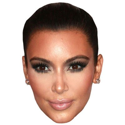 Kim Kardashian Celebrity Mask, Cardboard Face and Fancy - Cardboard Cutout Celebrities