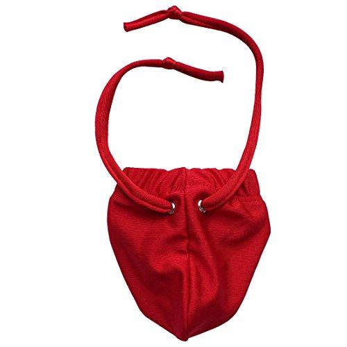 TIAOBU Mens Strap Pouch Lingerie G-string Underwear Red