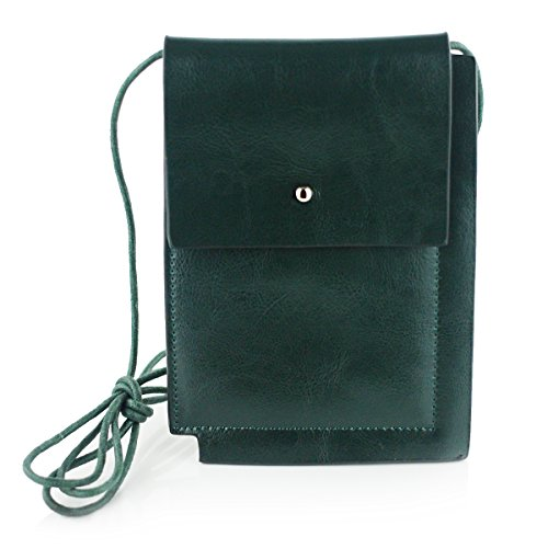 Cross Minimalism Mini green Purse Women's Body Bag UER Split Leather THAXxnA6q