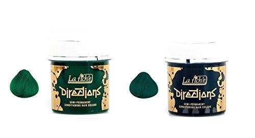 La Riche 2 Pack Directions Semi-Permanent Hair Dye Alpine Green & Apple Green (Riche Directions La Alpine)