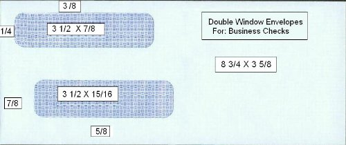2500 Double Window Self Seal Security Check Envelopes - Compatible for QuickBooks