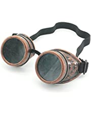 Cyber Goggles Steampunk Welding Goth Cosplay Vintage Goggles Rustic (Copper) by Fundior