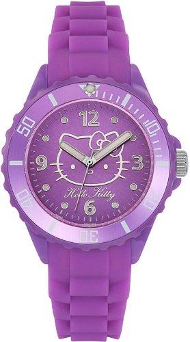 Hello Kitty 4421904 - Reloj analógico de Cuarzo para Mujer con Correa de Silicona, Color Morado: Amazon.es: Relojes