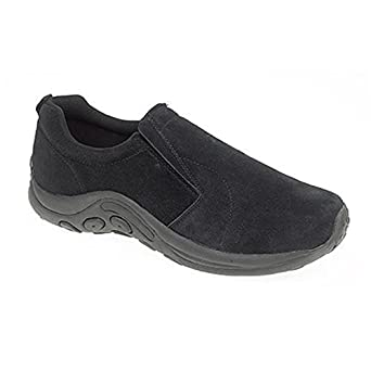Mens Gents Black Slip On Wider Fitting Casual Shoes UK Size