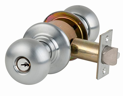 Series Storeroom Lock - Schlage A80PD ORB 626 C Keyway Series A Grade 2 Cylindrical Lock, Storeroom Function, C Keyway, Orbit Design, Satin Chrome Finish
