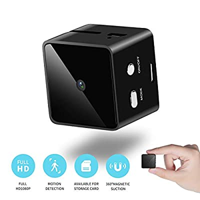 Mini Cube Spy Hidden Camera Full HD 1080P with Motion Detection, Metal Housing Magnetic Body Perfect Video Surveillance Camera for Indoor/Outdoor Security Nanny Cam from Ice Walker