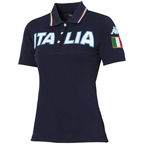 カッパ Kappa 半袖シャツ?ポロシャツ AZZURRO ストレッチ胸ITALIAロゴ半袖ポロシャツ レディス