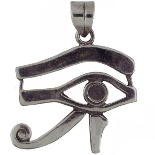 Egyptian Jewelry Silver Eye of Horus Udjat - Udjat Eye Pendant