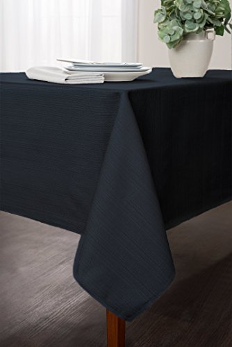 Benson Mills Cameron Heavy weight fabric Tablecloth, Navy, 6