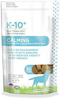 K-10+ Calming Supplement Chews for Dogs, Calming Functional Soft Chews for Dogs - 30 ct. Pouch