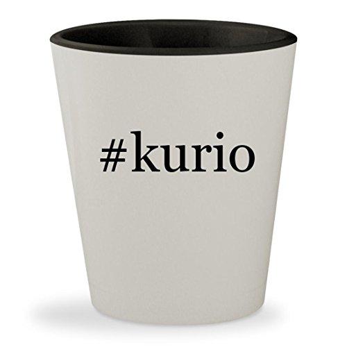 Price comparison product image #kurio - Hashtag White Outer & Black Inner Ceramic 1.5oz Shot Glass