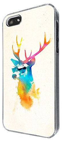345 - Splash watercolor Deer Sunglasses Design iphone 4 4S Coque Fashion Trend Case Coque Protection Cover plastique et métal