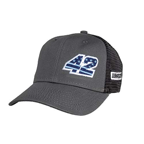 Ouray Sportswear NASCAR Chip Ganassi Industrial Canvas Mesh Cap, Grey/Black/Grey, Adjustable
