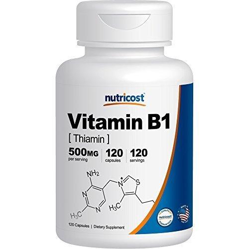 Nutricost Vitamin B1 (Thiamin) 500mg, 120 Capsules