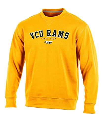 NCAA Virginia Commonwealth Rams Adult Men Crew Neck Fleece, Medium, (Gold Crew Sweatshirt)