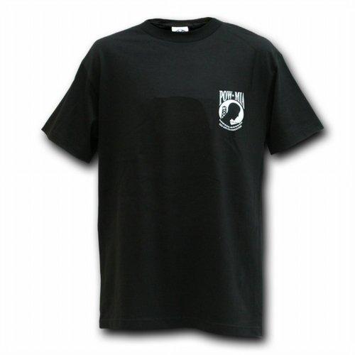 Rapid Dominance POW MIA Military T-shirts Mens Tees (Black, X-Large) -