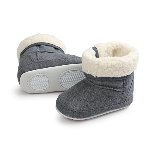 Pictures of Meckior Infant Baby Girls Winter Snow Booties 2