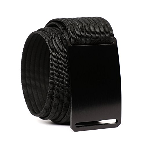 Grip6 Adjustable No Holes Men's Belt (32, Ninja)