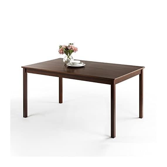 """Zinus Juliet Espresso Wood Large Dining Table / Table Only - Finished pine wood for Classic Charm Measures 60"""" x 36"""" x 29"""" Easily assembled in minutes - kitchen-dining-room-furniture, kitchen-dining-room, kitchen-dining-room-tables - 41IhR3JcpoL. SS570  -"""
