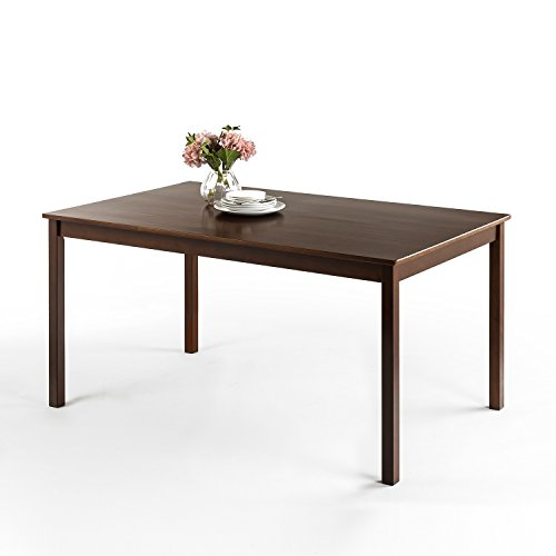 - Zinus Espresso Wood Large Dining Table/Table Only