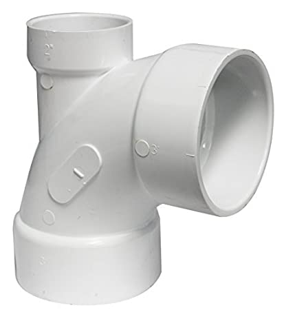 3 x 3 x 2 1//4-Inch White Canplas 192245 PVC DWV Bend with LHI