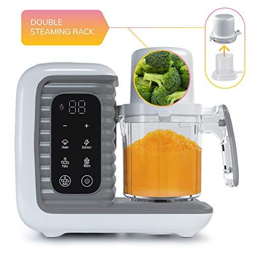 41IhRKahV9L - Children Of Design 8 In 1 Smart Baby Food Maker & Processor, Steamer, Blender, Cooker, Masher, Puree, Formula & Bottle Warmer Prep System