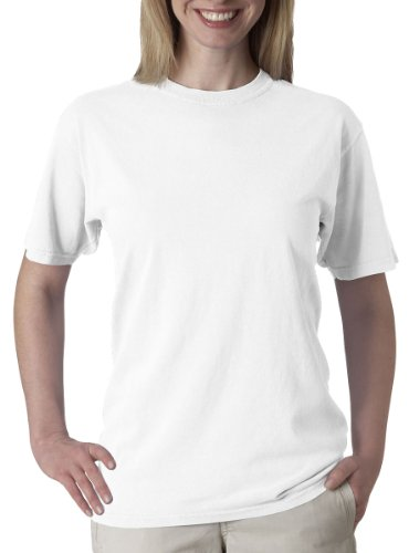Chouinard Men's Ring-Spun Garment-Dye Bottom Hem T-Shirt, Dyed White, Medium (Ringspun Dye Garment)