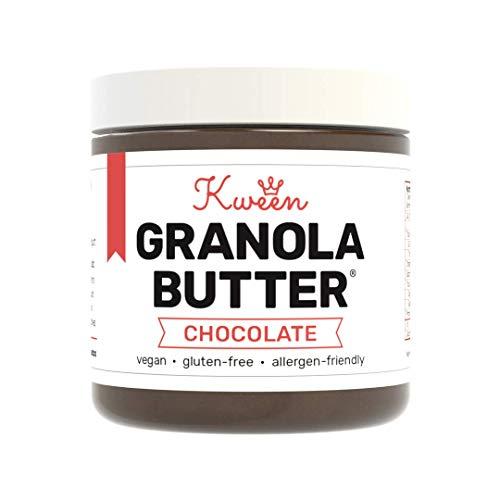 Kween Chocolate Granola Butter (1 Jar)   Nut-free, Vegan and Gluten-free Nutella Hazelnut Spread - Chocolate Butter Soy
