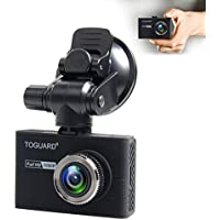 TOGUARD Dash Camera for Cars With Capacitor,Dash Cam Recorder Full HD 1080P,170 Degree Wide Angle Cameras, 1.5 LCD Display, WDR, Loop Recording,G-Sensor