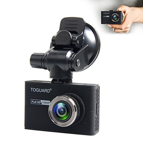 """TOGUARD Dash Camera for Cars With Capacitor,Dash Cam Recorder Full HD 1080P,170 Degree Wide Angle Cameras, 1.5"""" LCD Display, WDR, Loop Recording,G-Sensor"""